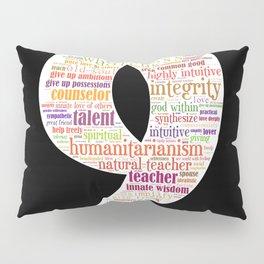 Life Path 9 (black background) Pillow Sham