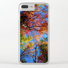 Colorful, Autumn In New Hampshire Clear iPhone Case