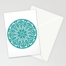Polish Papercut Dancers Teal Stationery Cards