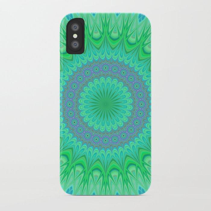 Crystal mandala iPhone Case