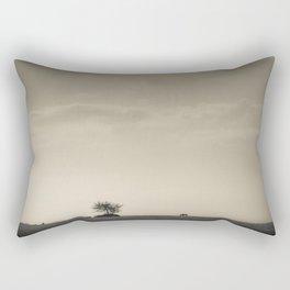 Lone Wildebeest grazing in South Africa Rectangular Pillow