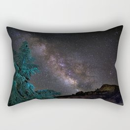 """Milky-way at the mountains"". Summer  Rectangular Pillow"