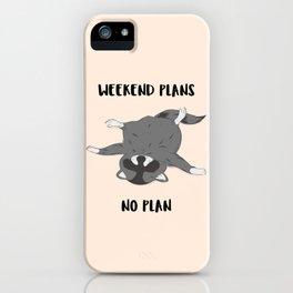 No plan Raccoon #illlustration #cartoon #animal iPhone Case