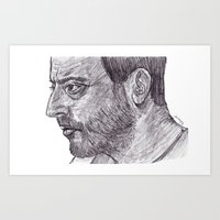 leon Art Prints featuring Leon by jamestomgray