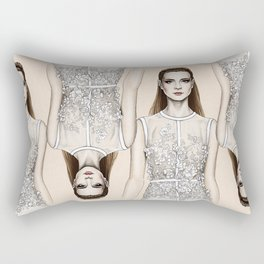 Elie Saab SS14 - fashion illustration Rectangular Pillow