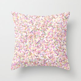 Happy Pastel Square Pattern Throw Pillow