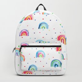 Rainbow baby dreams || watercolor for nursery Backpack