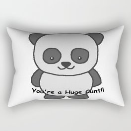 Panda says you're a huge cunt Rectangular Pillow