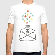 Potion MEDIUM White Mens Fitted Tee