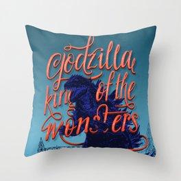Godzilla 50th anniversary Throw Pillow