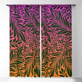 Vintage foliage illustration with Gradient background  for fine home decoration Blackout Curtain