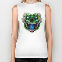 mythology Biker Tanks featuring Artificial Mythology by Diligence