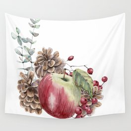 Winter Composition Wall Tapestry