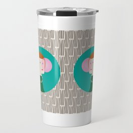 The girl and the bubble gum Travel Mug