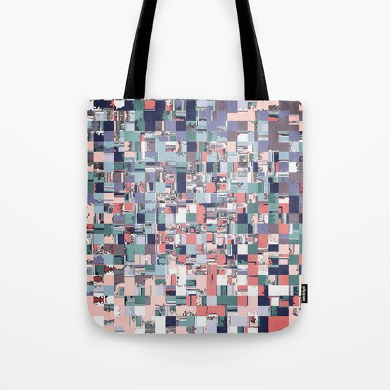 Colorful Abstract Geometric Mosaic Tote Bag