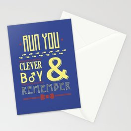Run You Clever Boy Stationery Cards