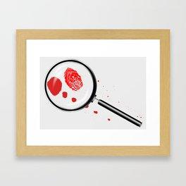 Detectives Magnifying Glass Framed Art Print