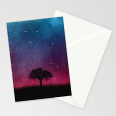 Tree Space Galaxy Cosmos Stationery Cards