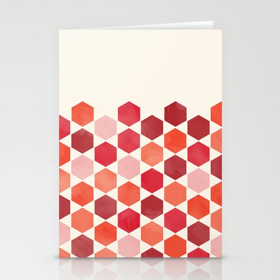 Red Tiles Stationery Cards