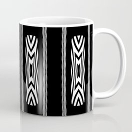 Tribal Black and White African Shield Design Coffee Mug