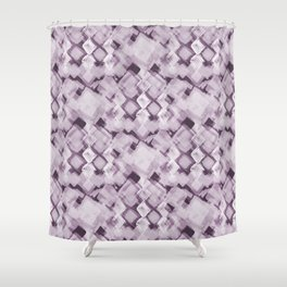 Square Pastel Dusky Pink Pattern Shower Curtain