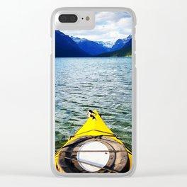 Kayaking Bowman Lake Clear iPhone Case