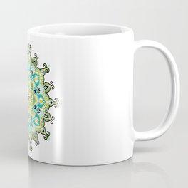 Mandala: Green and Blue Coffee Mug