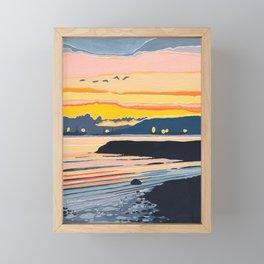 Encinal Beach Framed Mini Art Print