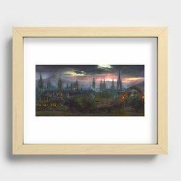 Sunset city Recessed Framed Print