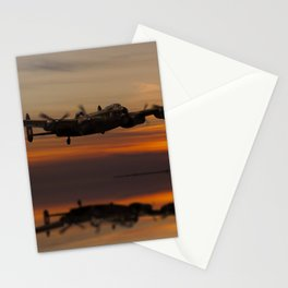 Lancaster Bomber Landfall Stationery Cards