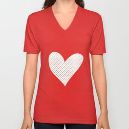 Love hearts Unisex V-Neck