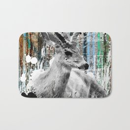 Deer in the Industrial Woods Bath Mat