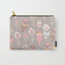 Tribal feather pattern 034 Carry-All Pouch