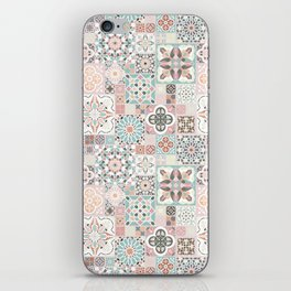 Moroccan Tile Pattern with Rose Gold iPhone Skin