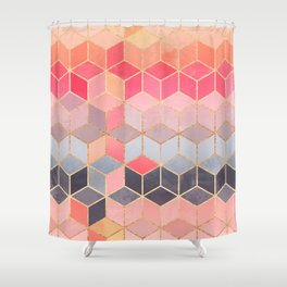Happy Cubes Shower Curtain