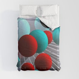 crazy lines and balls -10- Comforters