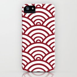 Maroon Scallop Pattern iPhone Case