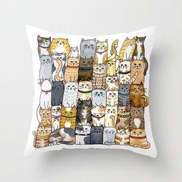 The Glaring Throw Pillow