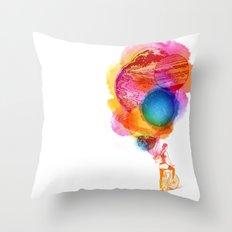 Travel Space Throw Pillow