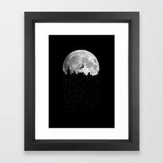 The Moon Climber Framed Art Print
