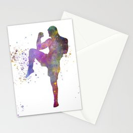 Taewondo-karate-muay thai-wrestling in watercolor 05 Stationery Cards