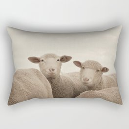 Smiling Sheep  Rectangular Pillow
