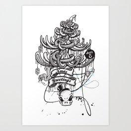 Xmas Greeting Art Print
