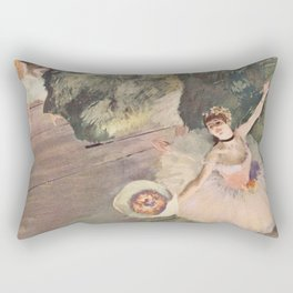 Dancer with a Bouquet of Flowers (Star of the Ballet) Rectangular Pillow