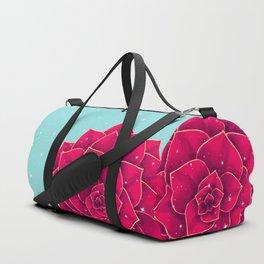 Big Holidays Christmas Red Echeveria Design Duffle Bag