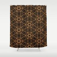 Black and Bronze Kaleidoscopes 2671 Shower Curtain