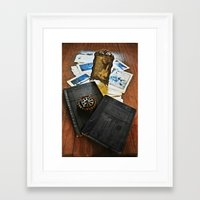 frame Framed Art Prints featuring Frame  by Keianh