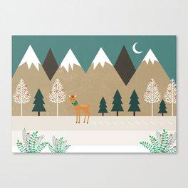 Hello winter Canvas Print