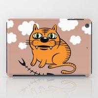 fat iPad Cases featuring FAT CAT by Alberto Corradi