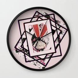 AKIN pink Wall Clock